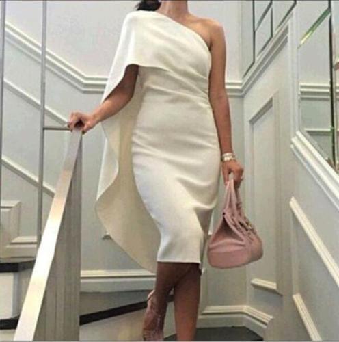 Sexy une épaule robe de soirée courte de bal formelle Parti Pageant robe personnalisée