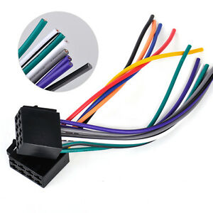 s l300 universal car stereo radio female iso plug adapter wiring harness universal wiring harness connector at couponss.co