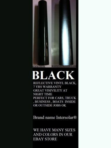 "24 /""X 50ft Negro Vinilo reflexivo Adhesivo Cortador señal alta Reflectividad"
