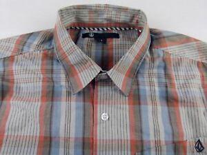 Kl156-Volcom-multicolor-kariert-Hemd-Groesse-M-kaum-getragen-wenn-so