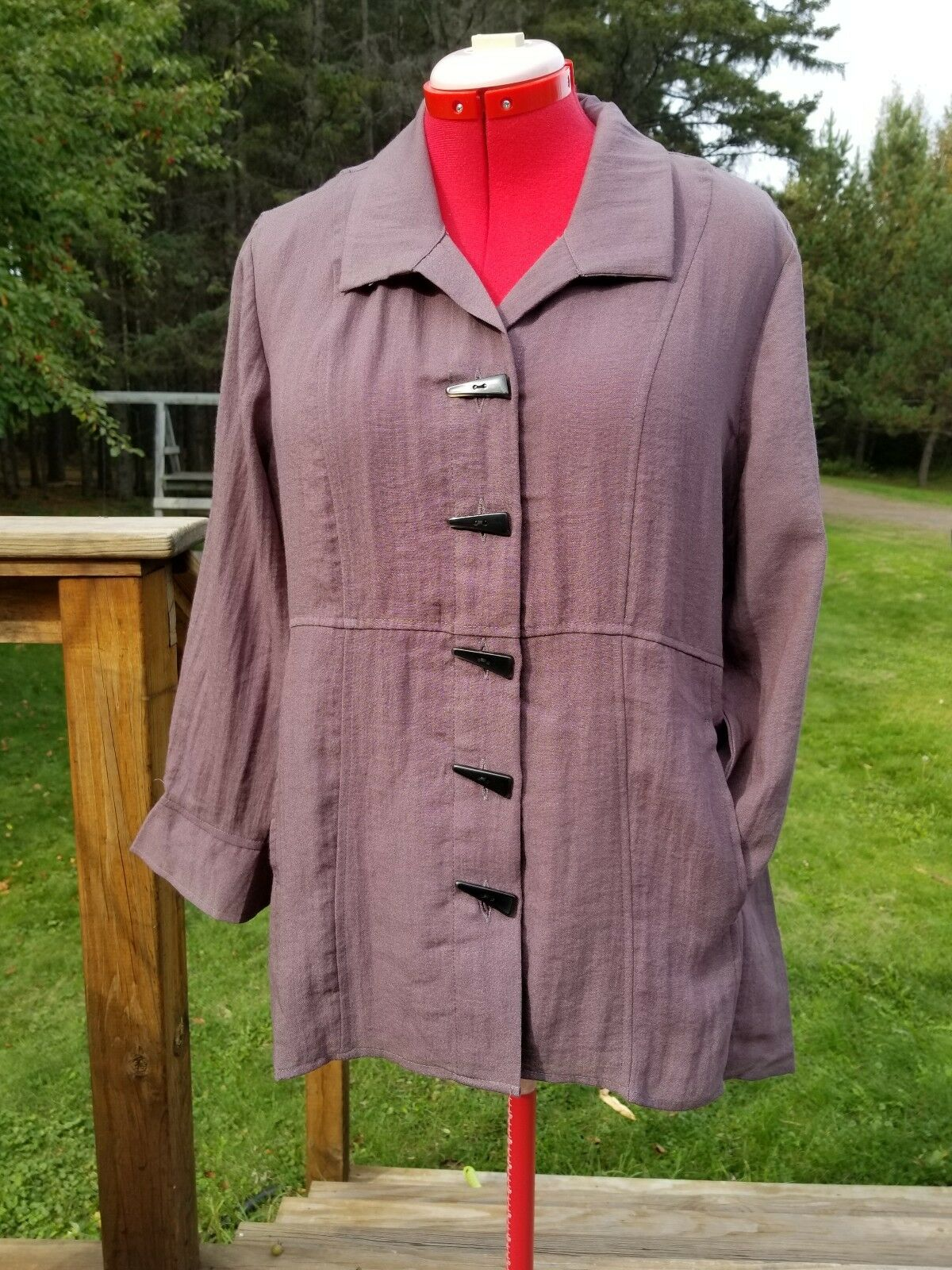 New SMALL HABITAT pockets Mushroom braun Jacket blouse very nice