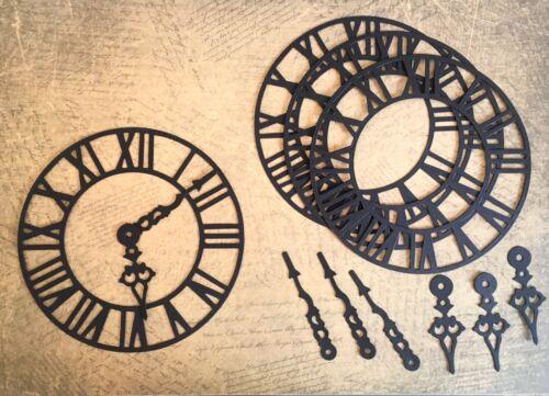 pack de 4 - noir Nouveau Grand Steampunk Horloge DIE CUTS Tim Holtz