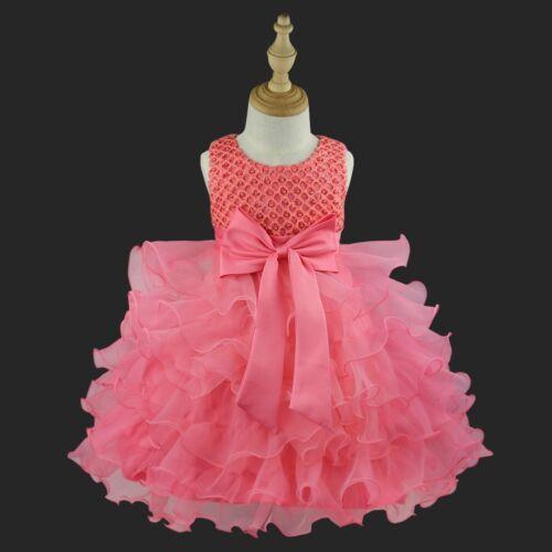 Flower Girl Dress Baby Party Wedding Birthday Princess Christening Tutu Dresses