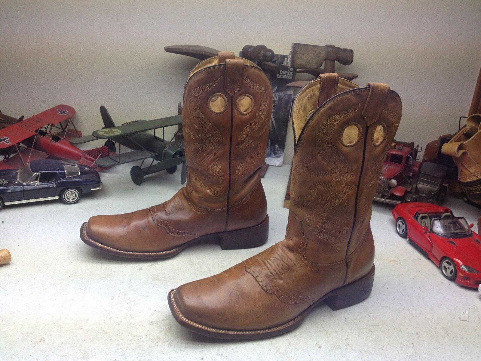 Puntera cuadrada Corral Marrón Cuero Occidental ingeniero jefe Trail botas 11 D