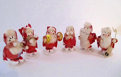 Vintage Santa Elf 6 Piece Band Scandanavian Crepe Paper Made Japan 1940s