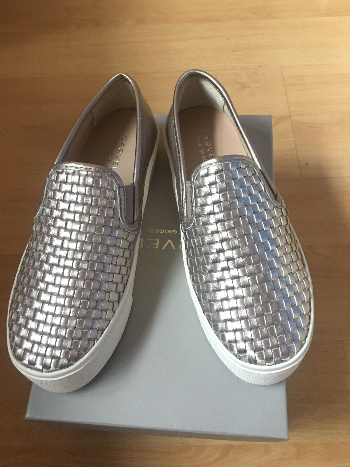 Carvela Lagos Pewter Leather baskets Taille 4