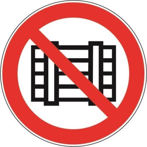 Autocollant interdiction Bouclier rien couper ou CAMPS 10 cm Autocollant