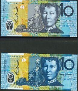Australia-Mint-1993-2015-1st-Last-10-Polymer-Series-Pair-Stevens-Fraser-Evans