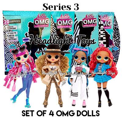 4 Lol Surprise Series 3 Omg Fashion Doll Class Prez Da Boss Roller Chick Chillax Ebay