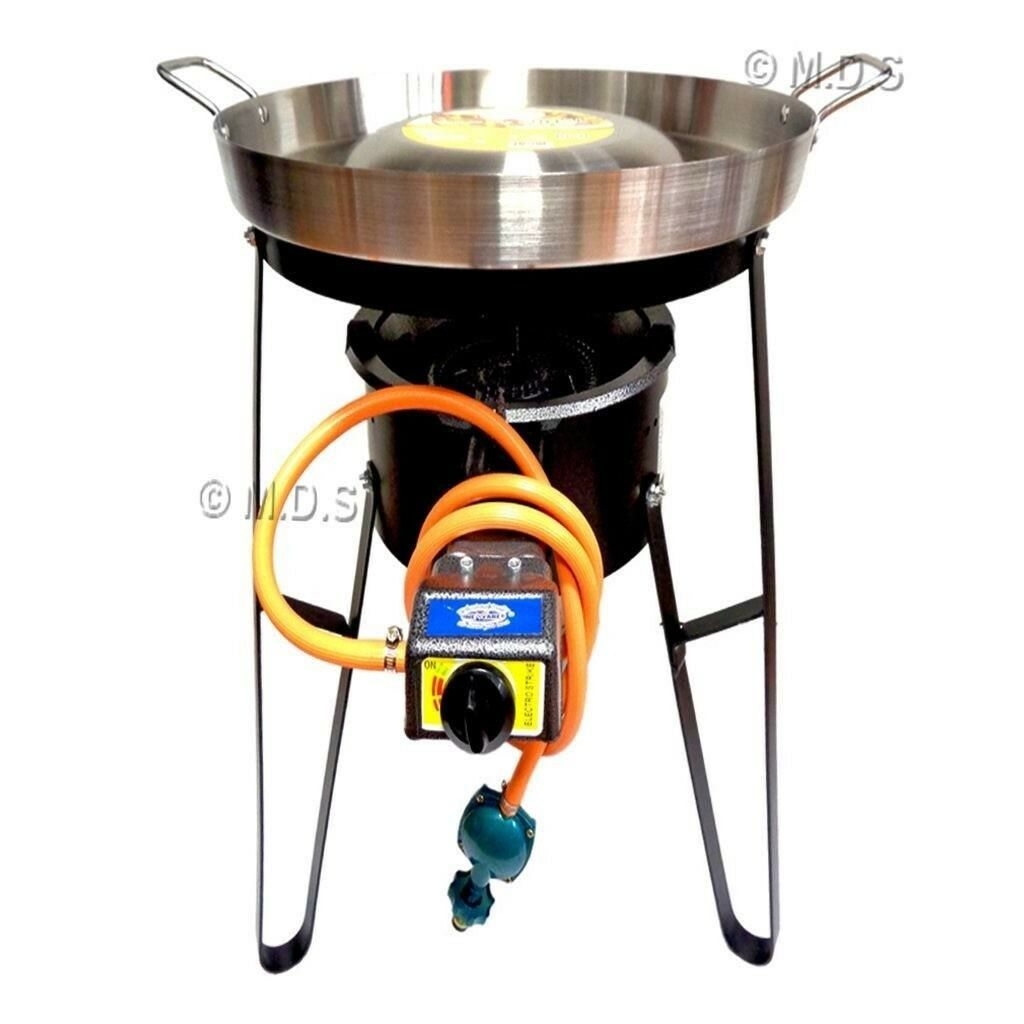Comal Convex 21  with Burner Set Heavy Duty Metal Cazo Taco Propane Gas Portable