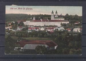Panorama Stift und Markt St. Florian in Oberösterreich gelaufen 1910