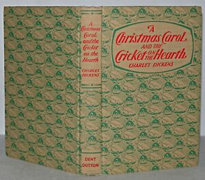 A-Christmas-Carol-Book-amp-Cricket-On-The-Hearth-Charles-Dickens-Hb1968-J-M-Dent