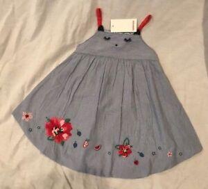998e31a86 NWT Girls CATIMINI Micro Stripe Short Jumpsuit Dress w  Floral ...