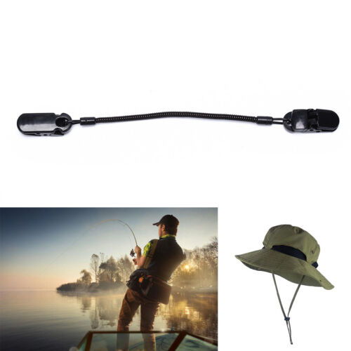 Cap Eyewear Retainer Hat Leash Clip Holder Black NylonCord Strap Plastic Clip XC
