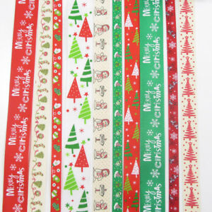 10-x-1-METRE-CHRISTMAS-TREE-RIBBONS-10mm-15mm-25mm-SANTA-SNOWMAN-FESTIVE-GG6378