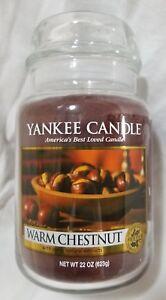 Yankee-Candle-WARM-CHESTNUT-Large-Jar-22-Oz-New-Housewarmer-Fall-Autumn-Brown