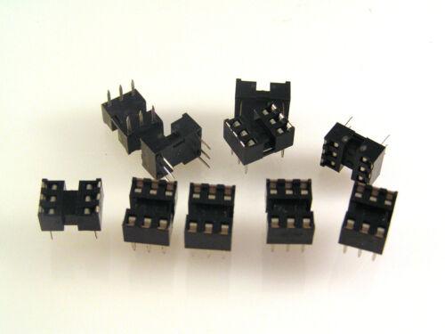 "DIP IC Socket 6 Way DUAL IN LINE 0,3 /""spaziatura 10 PEZZI om1012a"