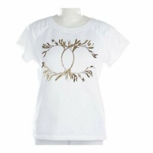Chanel-L-Large-CC-Logo-T-Shirt-White-Gold-Tee-Cotton-Greece-Resort-2018