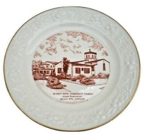 Vintage Beverly Hills Community Church Collectible Plate United Presbyterian