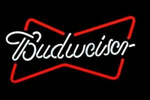 Budweiser-REAL-GLASS-TUBE-NEON-SIGN-LIGHT-STORE-SPORTS-BEER-BAR-PUB-TAVERN-DECOR