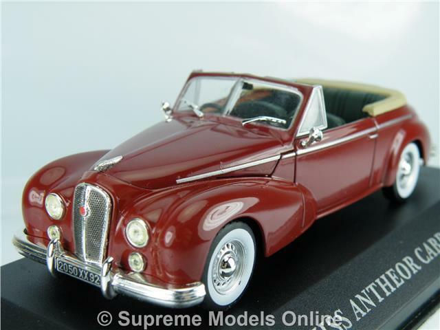 HOTCHKISS ANTHEOR CABRIOLET 1953 CAR MODEL 1 43 MAROON COLOUR EXAMPLE T3412Z(=)