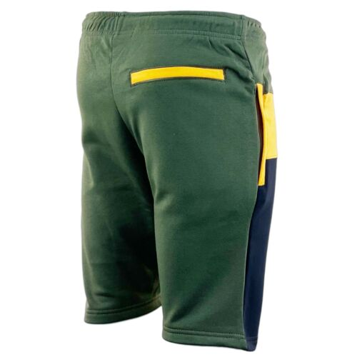 Homme Slim Contraste Polaire Shorts Casual Sports Gym Wear