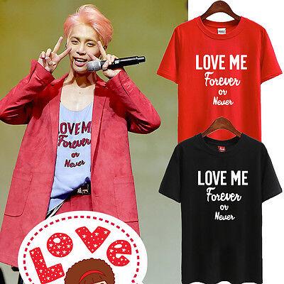 SHINEE KPOP T-SHIRT TSHIRT TEE JONGHYUN JONG HYUN LOVE ME FOREVER OR NEVER