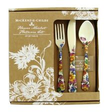 MACKENZIE CHILDS 12 PIECE SET FLOWER MARKET ENAMELED FLATWARE NEW ORIGINAL BOX