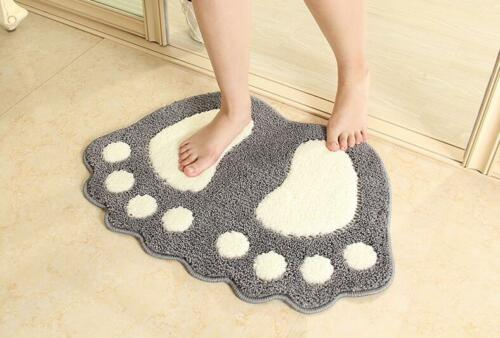Non Slip Bath Mat Bathroom Shower Rugs Shaggy Carpet Absorbent Doormat Floor Mat
