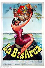 manifesto 2F originale LA BISARCA Lida Baarova Peppino De Filippo 1951 Kremos