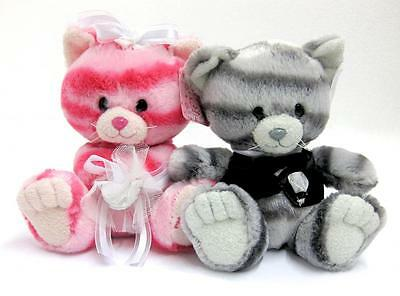 """AURORA Milly The Pinkest Cat - Bride And Groom Wedding - 7"""" Soft Plush Toys"""