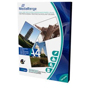 MediaRange-A4-CARTA-FOTOGRAFICA-PAT-LUCIDA-Fronte-Retro-160g-50-fogli-MRINK108