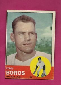 1963-TOPPS-532-CUBS-STEVE-BOROS-HIGH-EX-CARD-INV-A4829