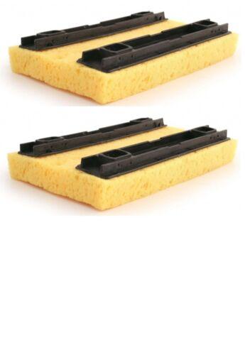 2 x Bentley Deluxe Hinge Floor Mop Refill Sponge Mop Refill In Yellow 20 x 14cm