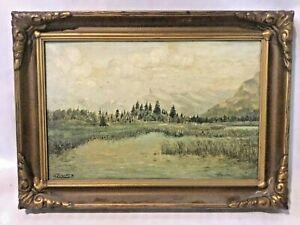 Wenzel-Zelinka-original-Antique-1930-painting-Beautiful-Canadian-Banff-artist