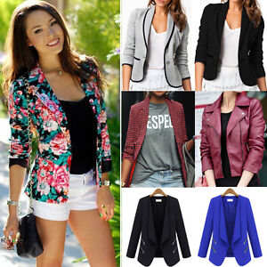 Womens-Casual-Suit-Blazer-Business-OL-Ladies-Slim-Fit-Lapel-Jacket-Coat-Outwear