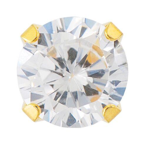 STUDEX Cubic Zirconia cristal de la CZ sensible Redondo Pendientes con Pasador Hipoalergénico