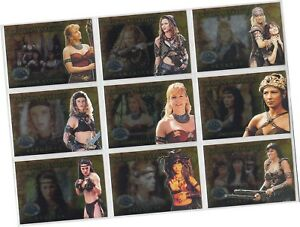 Beauty And Brawn Trading Card Chase Set FW1-FW9 Xena Rittenhouse, 2002