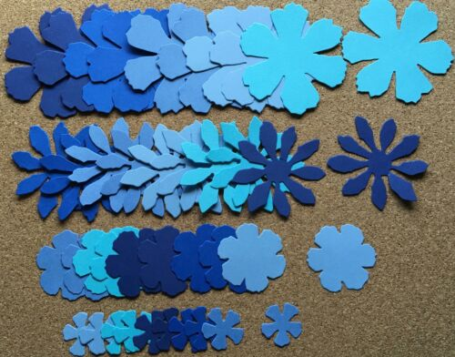 Flowers for Card Making//Scrapbooking in Cape Cod Colors Sizzix Tattered Florals