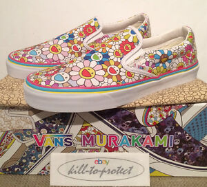 Vans x Takashi Murakami Multi Fiore Sz US UK6 7 8 9 10 11 Slip On Deck 2015