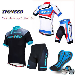 Men Cycling Clothing Sets Road Bike Jersey Padded Bicycle Shorts Biker Uniforms