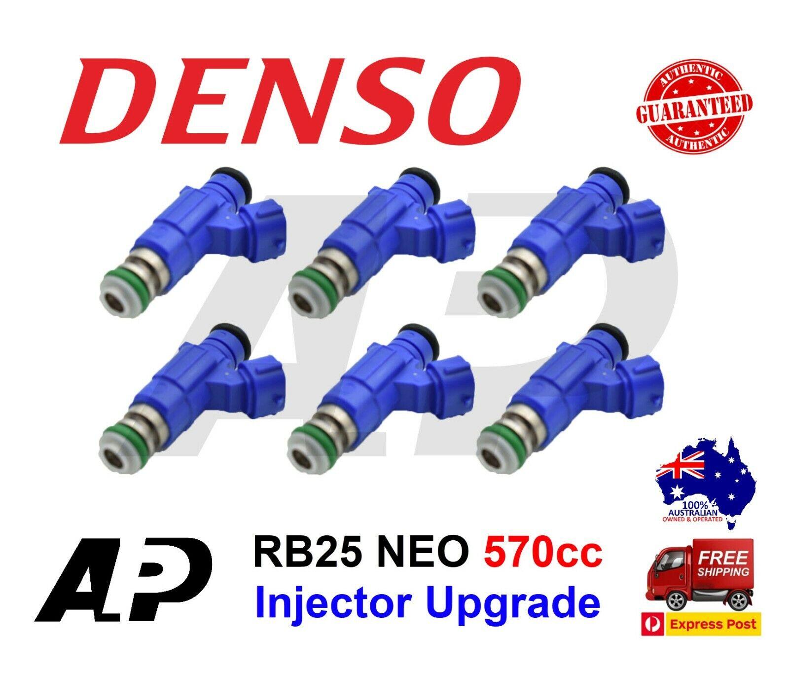6x 1200cc Fuel Injectors for NISSAN NISMO SKYLINE R34 RB25DET NEO ER34 fit DENSO