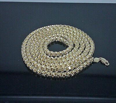 10k Gelbgold Kette Herren Byzantiner Halskette 28 Zoll Hummer 3.5 Mm Echter
