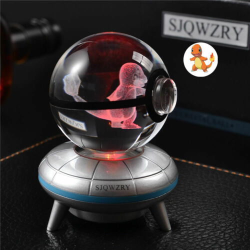 Pokemon Charmander 3D LED Kristall Tischlampe Nachttischlampe Expressversand
