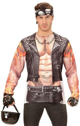 Bain Biker 3d shirt photoréaliste Nouveau-Messieurs Carnaval Déguisement KO