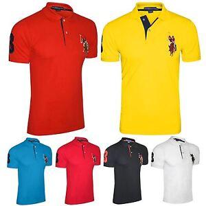 Mens Us Polo Assn T Shirt Original Shirt Coloured Pony Top Short