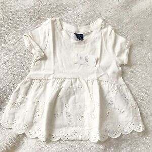 f0baaa3c5c966 Details about NWT Baby Gap Eyelet Ivory Shirt Top Peplum 12-18 month Girls  Play Favorites NEW