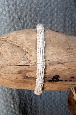 Armband Freundschaftarmband Surferarmband Baumwolle Braun /& Schwarz Verstellbar