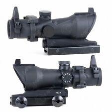 Black 1x32 ACOG Rifle Scope Red/Green Dot Sight Centre Crosshair Weaver Rails