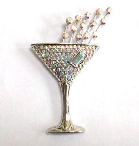 Butler-and-Wilson-Transparente-AB-Cristal-en-rodio-Pequeno-Champan-Vidrio-Pines